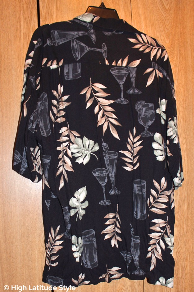 Hawaiian print silk shirt