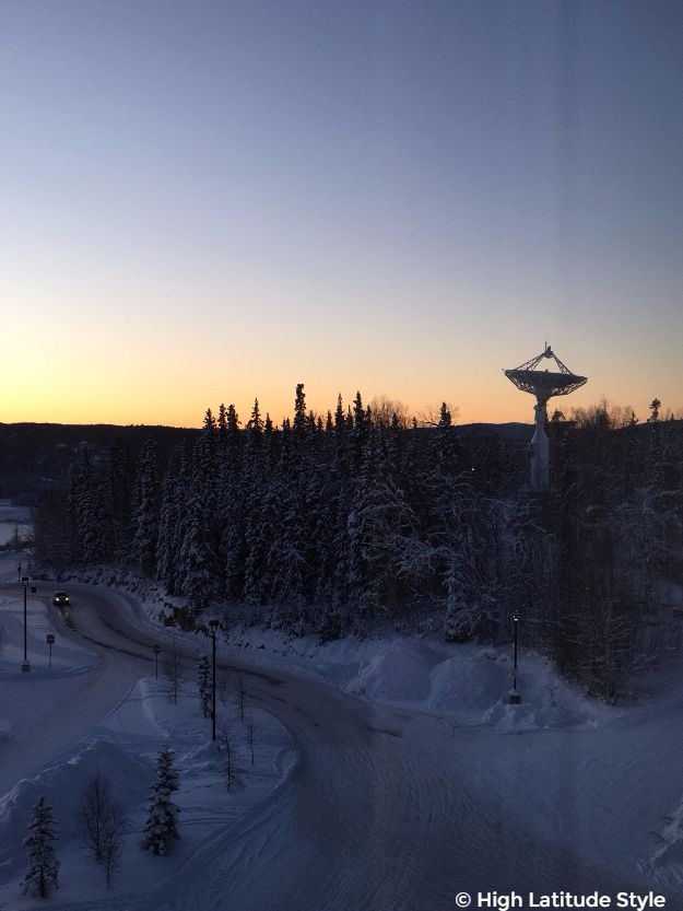 #Denali and satellite dishes in sunset