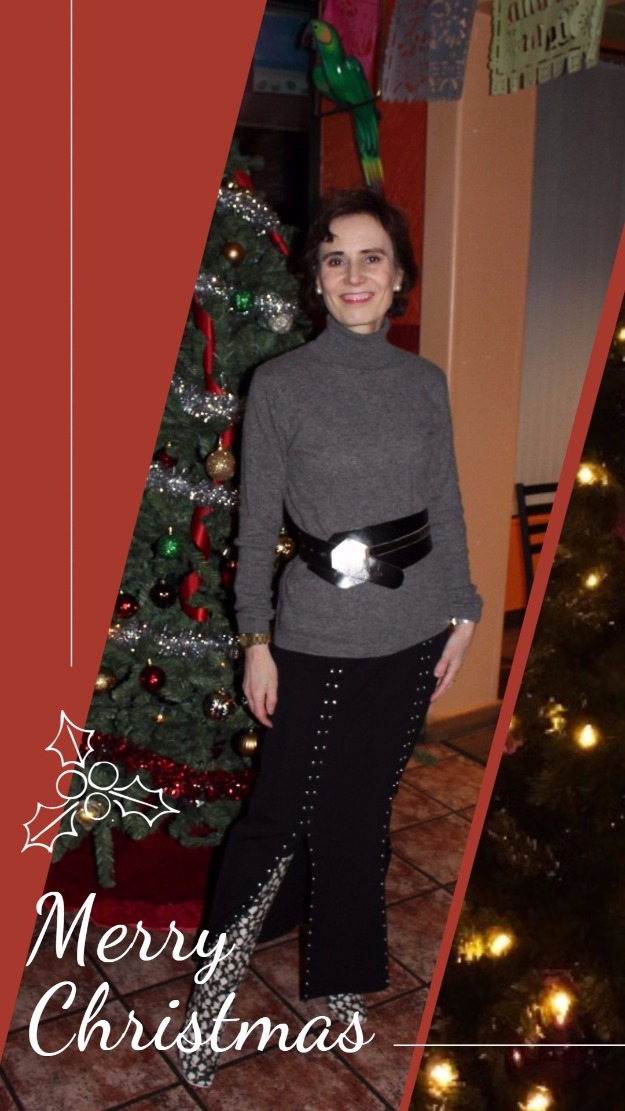 #fotortemplate Christmas card with outfit photo