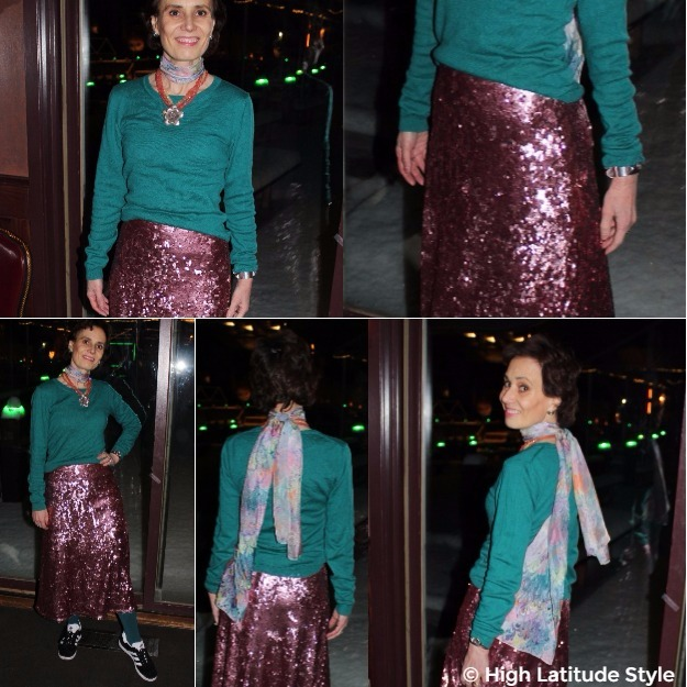 #midlifestyle #fotorcollage showing various details of posh chic date night outfit