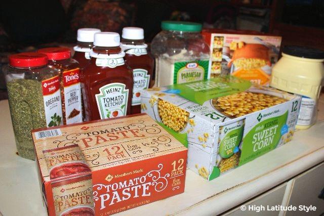 #groceries bulk food bought at Sam's