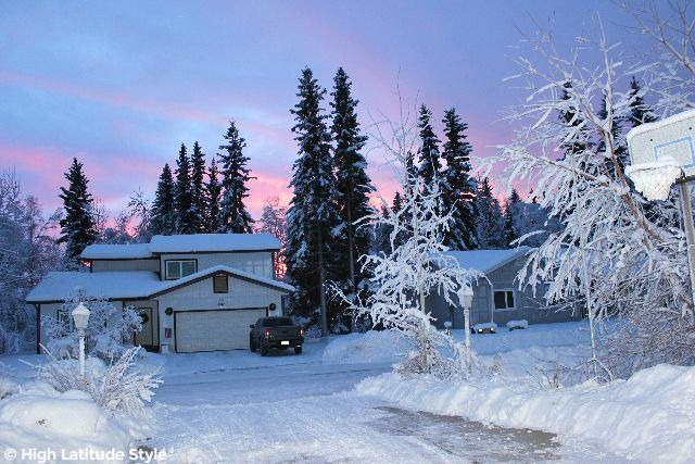 #Alaskalife pink sky at sun rise