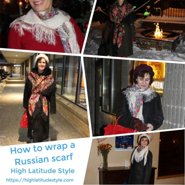 how to wrap a Russian scarf inspiration sheet
