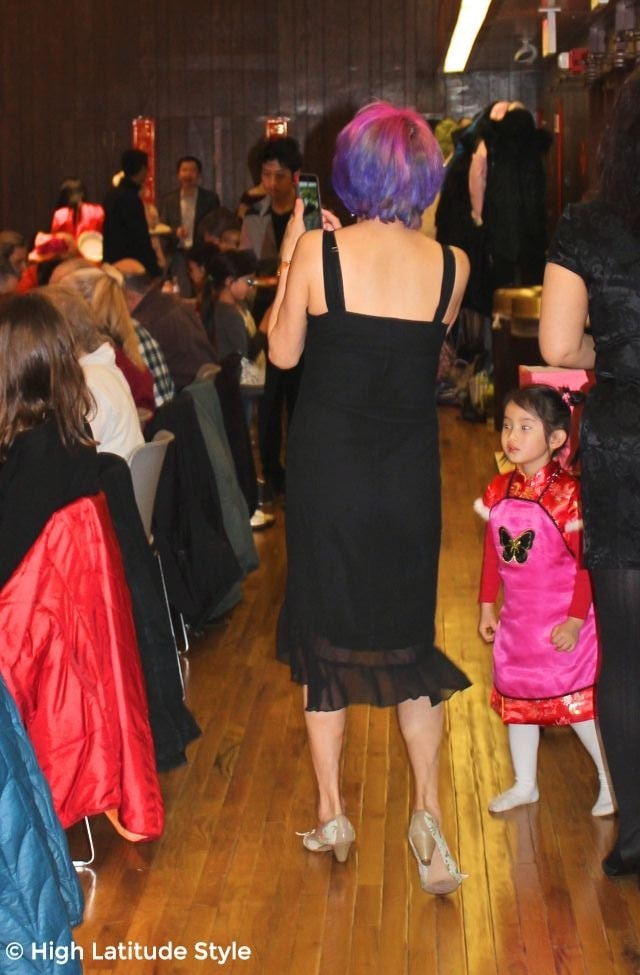 #hairover50 mature woman with purple hair
