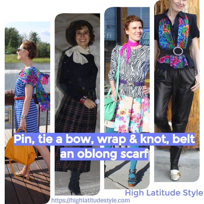 oblong scarf styling inspiration sheet
