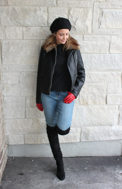 Susan of Ava Grace's Closet in a cold weather casual look