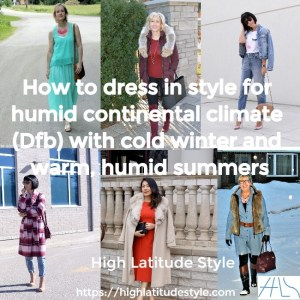 See how these stylish bloggers dress for continental humid weather