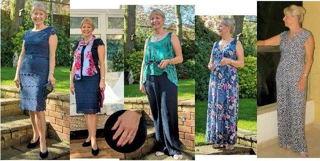#fashionover70 mature woman looking much younger in her palette of blue and greens