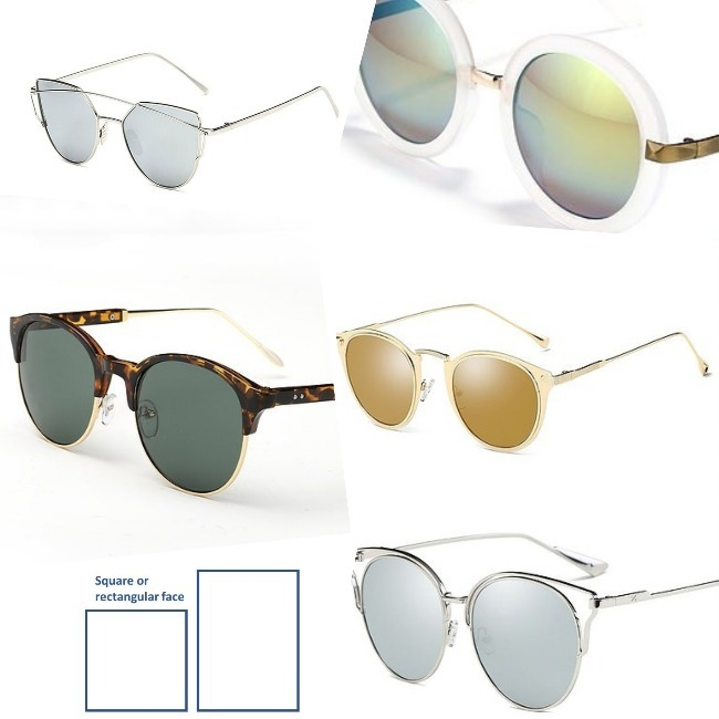 #sunglasses frames for rectangular and square face type