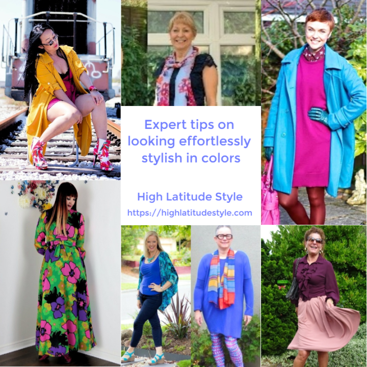 #color #fashionover40 Stylists' tips on showing awesome non-neutral outfits