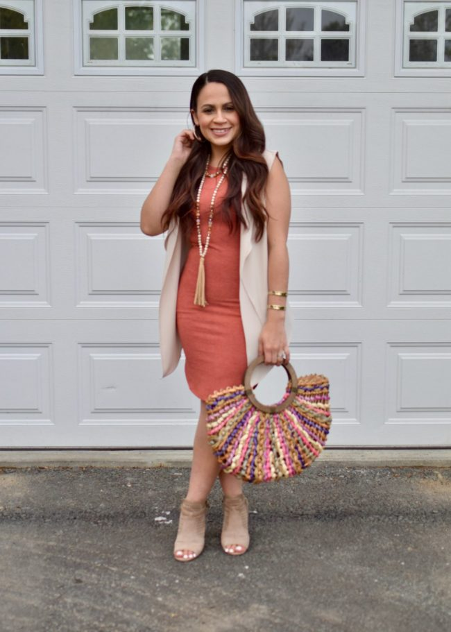 #linkup Top of the World Style Winner Melissa in coral dress