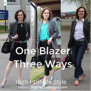 How to wear one blazer three ways