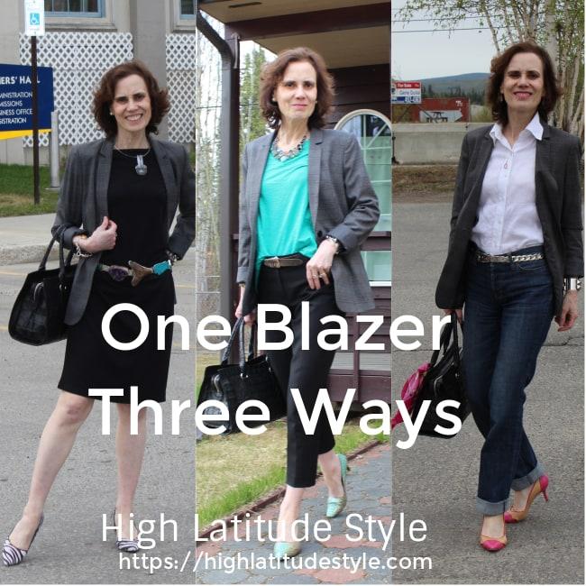 #officelooks one blazer three ways banner