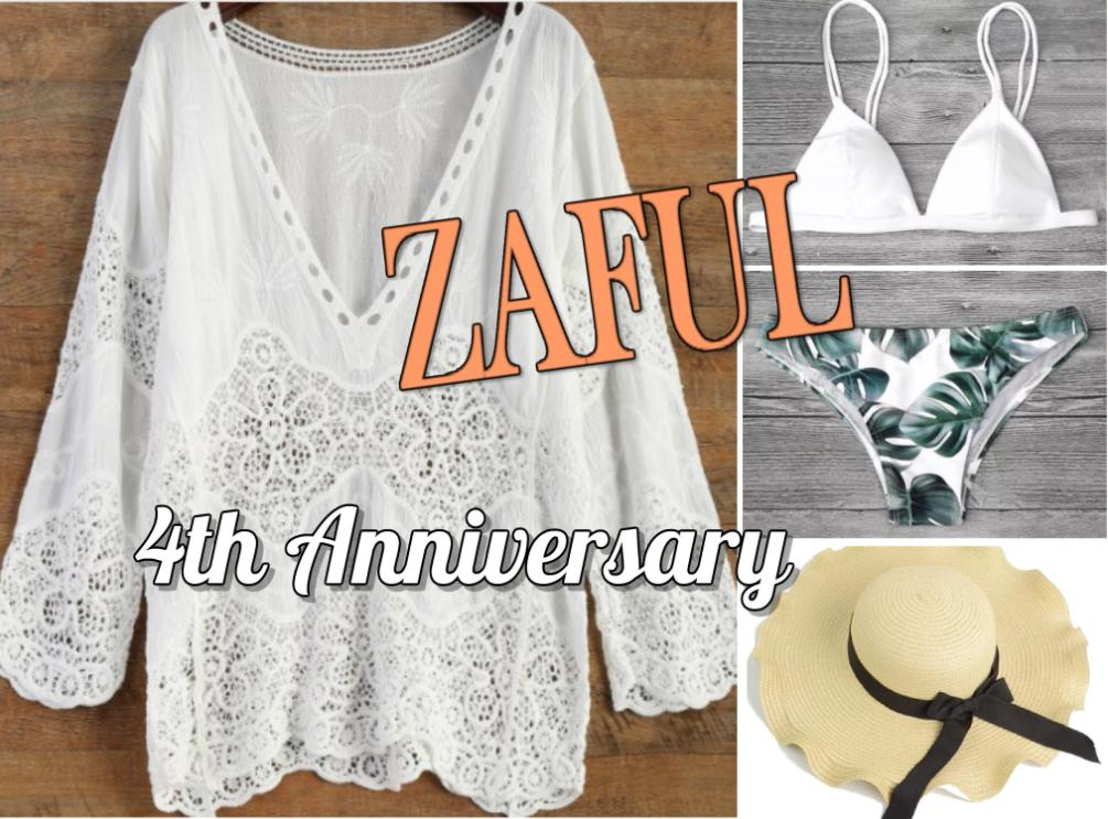 zaful 4th anniversary banner