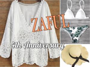 zaful 4th anniversary banner