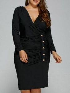 #plussizestyle LBD for midlife plus size ladies