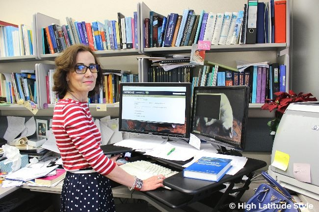 #fashion over50 woman in red, white and blue summer office look with work and play eye wear