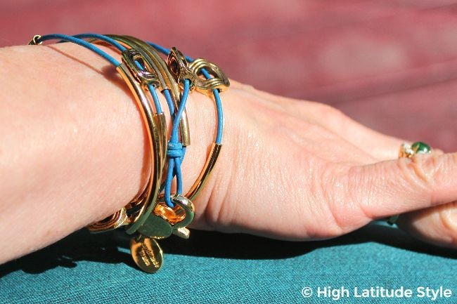 #adbancedstyle goldplated arm piece with teal