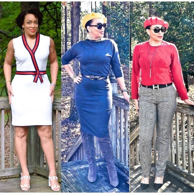 #dressing4theweather Erica Bunker in summer, fall and winter outfits