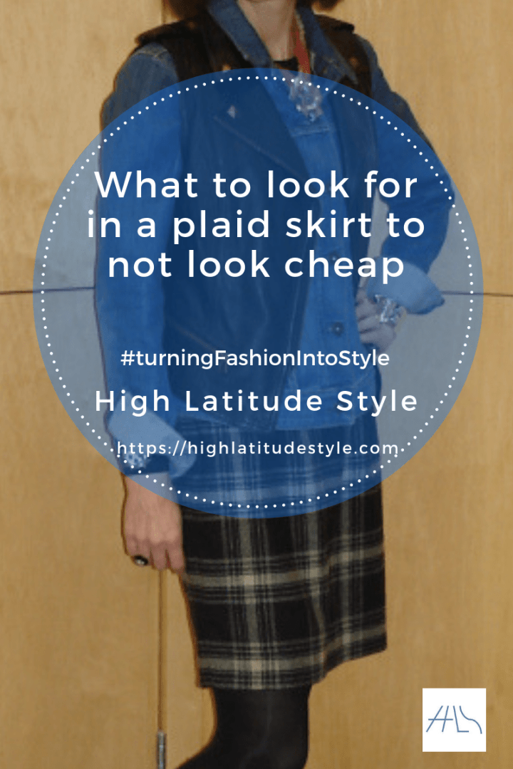 #turningfashionintostyle What to look for in a plaid skirt to not look cheap post banner