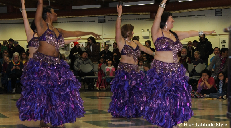 Eastern dancers in Swarovski crystals, pearl fringes and ruffle embellished outfits