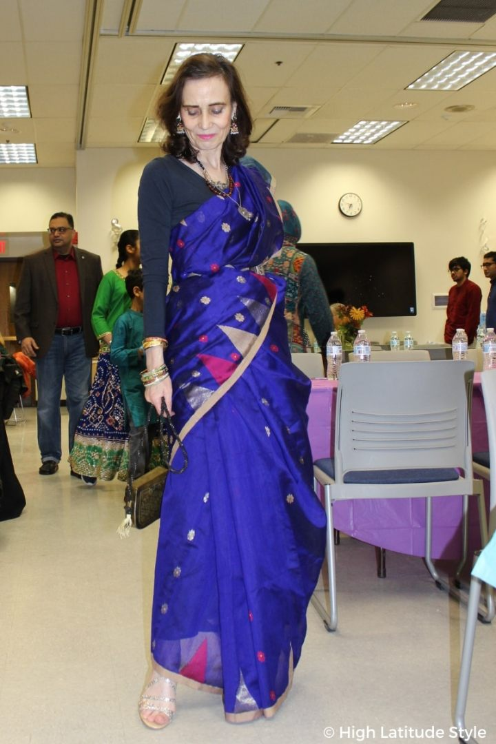 See my royal blue Diwali outfit