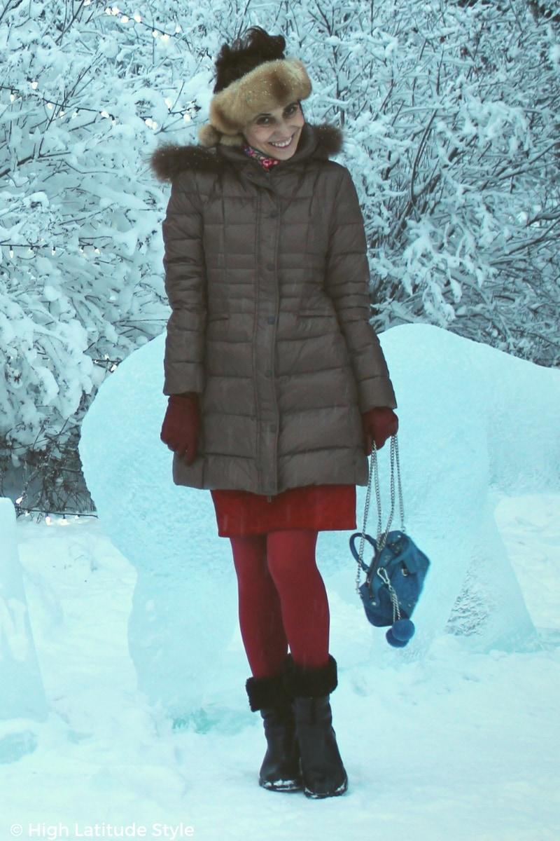#midlifestyle blogger Nicole Mölders in cute winter outerwear