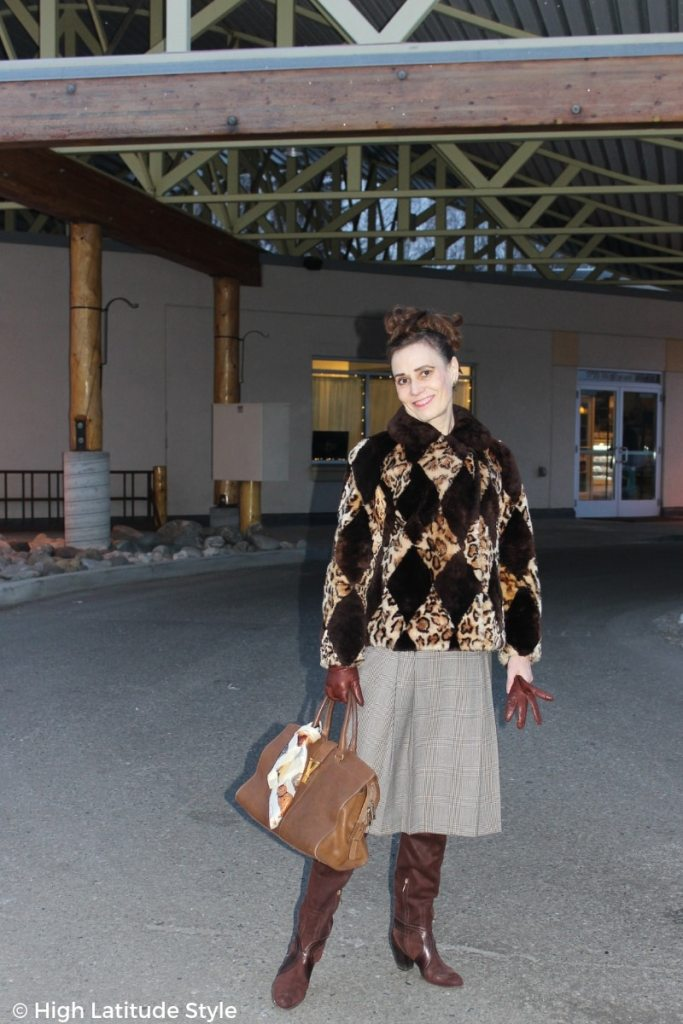 Winter style with layering, skirt and short jacket