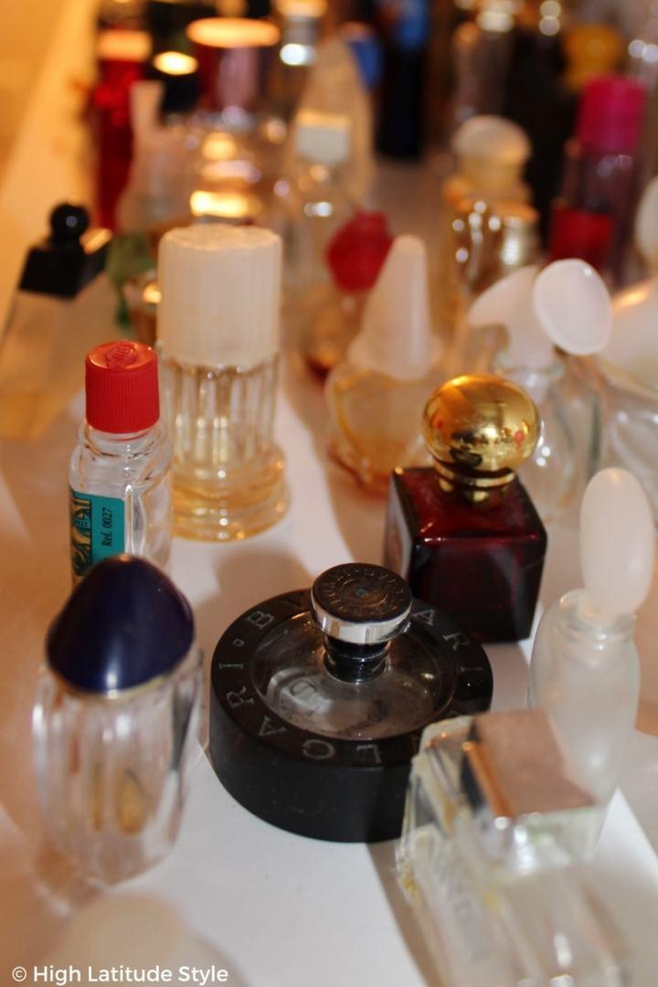 many beautiful perfume flacons