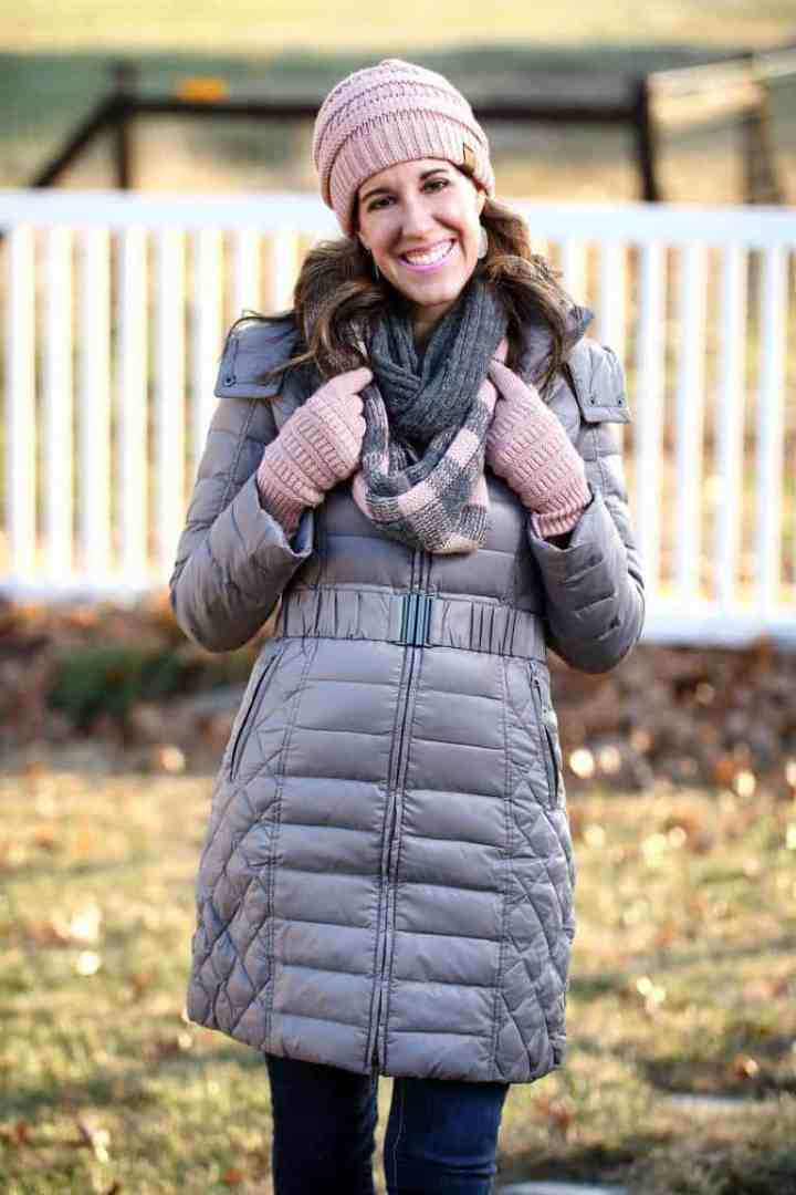 Top of the World OOTD Readers' Fav Carrie of Curly Crafty Mom in a downcoat