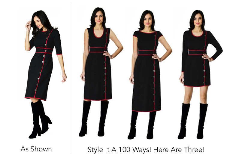 eshakti cool dress in various different ways now available on Amazon Custom