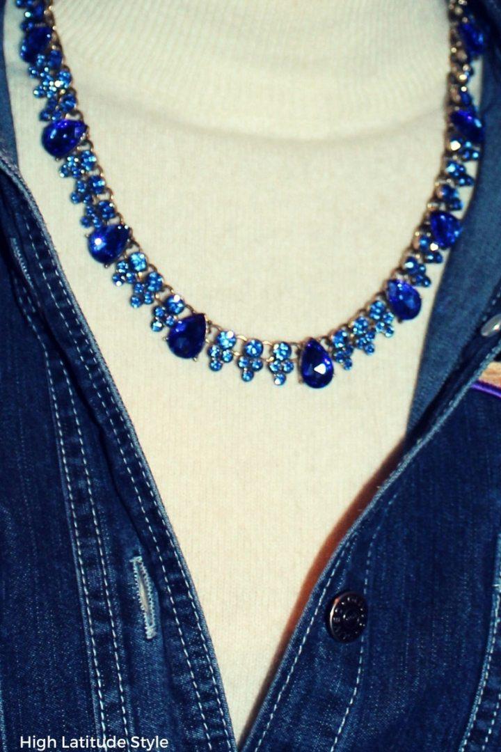 serenity statement costume jewelry with denim