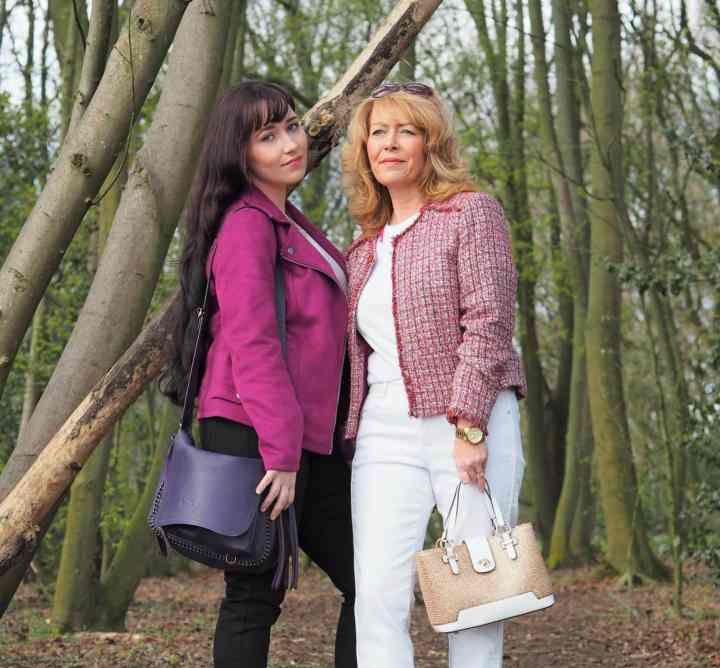 Top of the World OOTD My Fav Laurie of Vanity and Me Style and her daughter Sara in feminine pink jackets