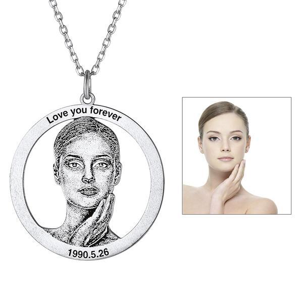 photo engraved pendant