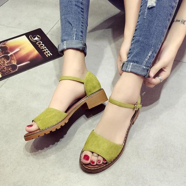 Willow vegan women's PU suede summer floral sandals