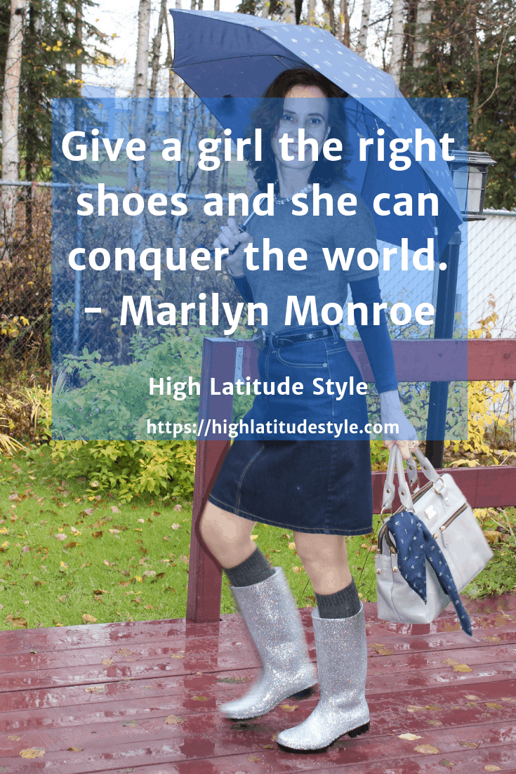 Give a girl the right shoes and she can conquer the World - quote Marilyn Monroe