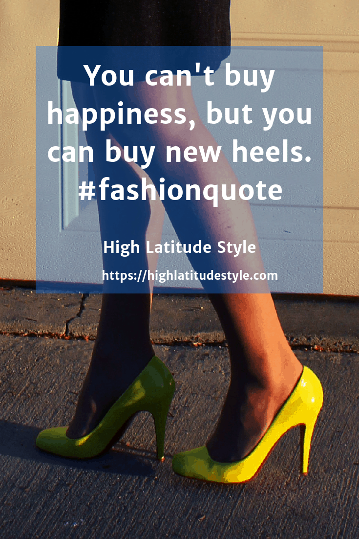 buying new heels equals happiness