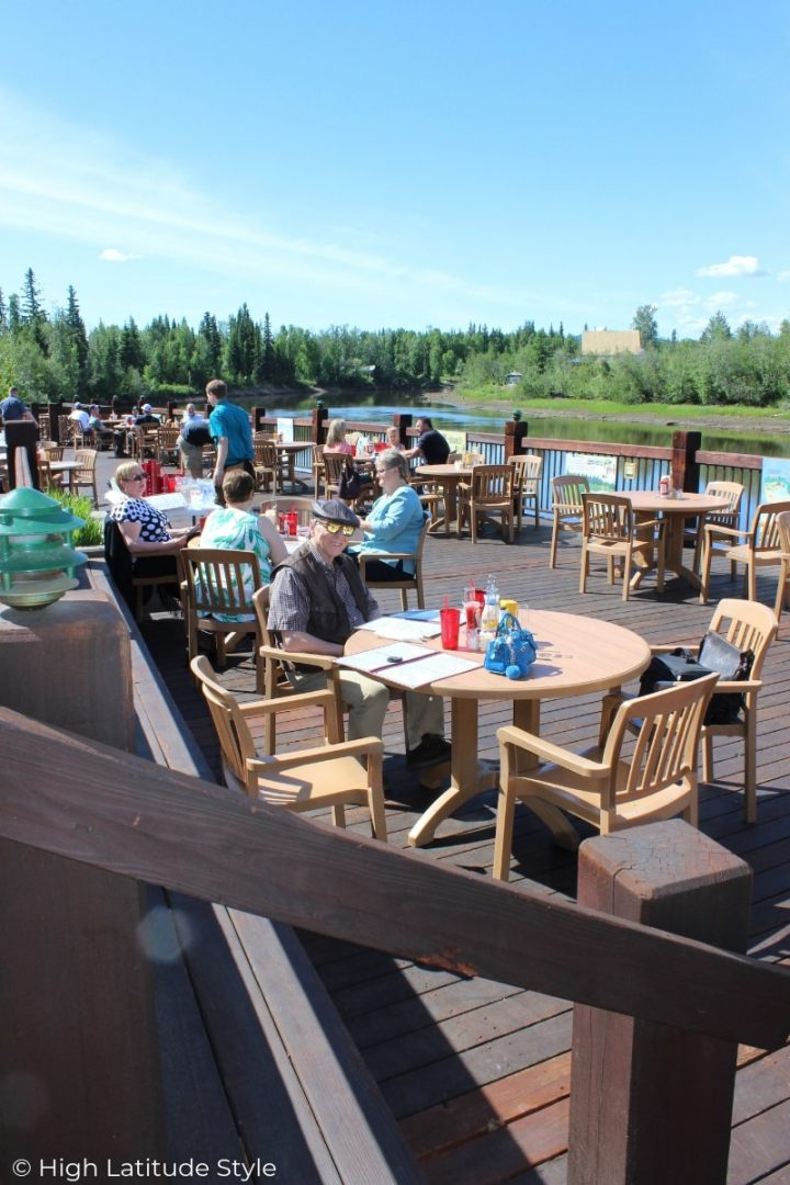people taking lunch outside in Interior Alaska on Father's Day