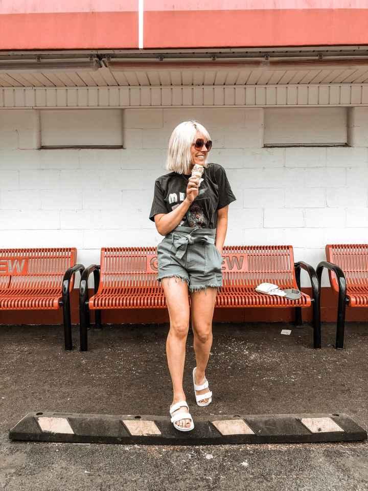 Top of the World OOTD Readers' Fav Johanna Grange in paperbag shorts
