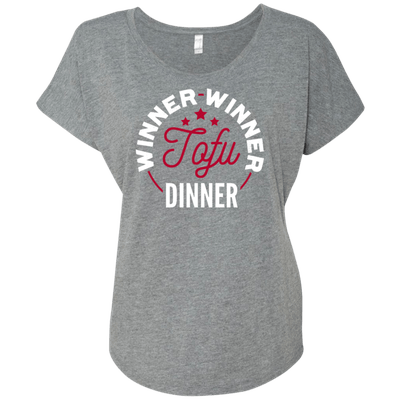 Leafy Souls Winner Winner Tofu Dinner unisex graphic T promoting a vegan lifestyle