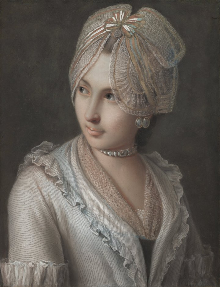 Pietro Rotari, An Elegant Young Lady with a Lace Cap
