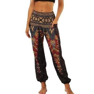 Indian paisley and blog print pants