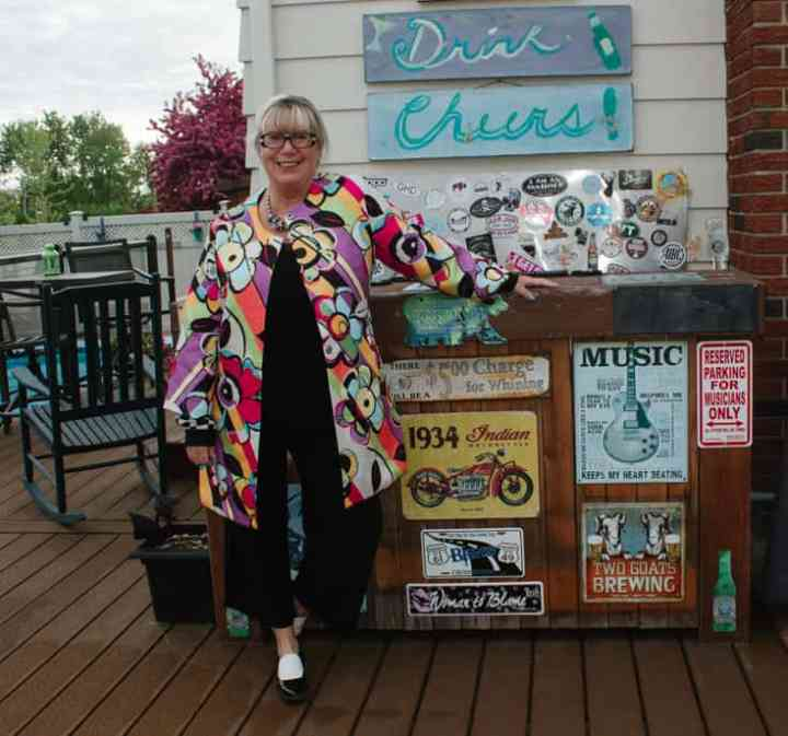 Top of the World OOTD Readers' Fav Linda of A Labour of Life in a multi color coat