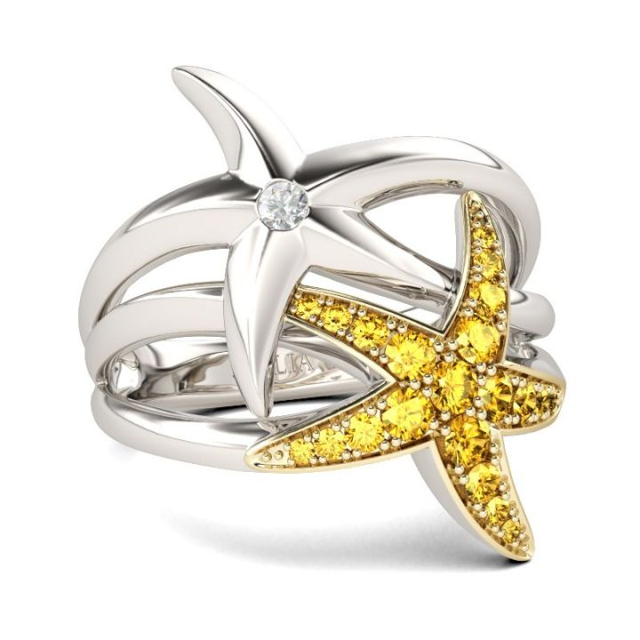 Jeulia Star fishes ring