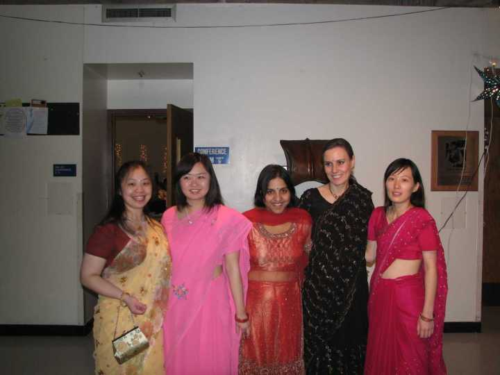 women wearing ethnic clothes for the festival of lights