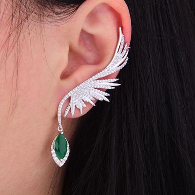 glamorous circonia pave earring