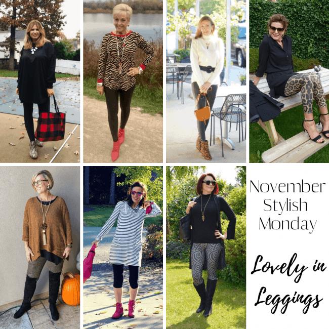 November Stylish Monday hostesses looking lovely in leggings