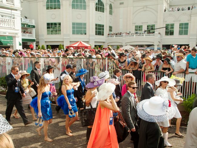 women in hats at the Kentucky Derby