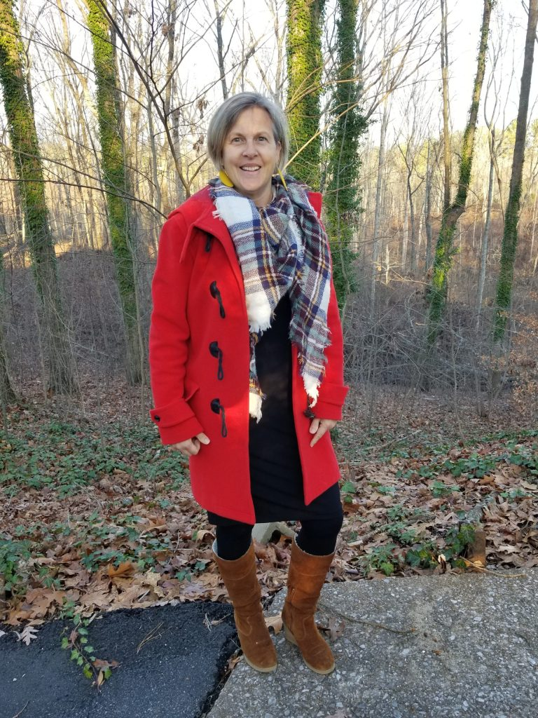 Top of the World OOTD Readers' Fav Michelle in red duffel coat