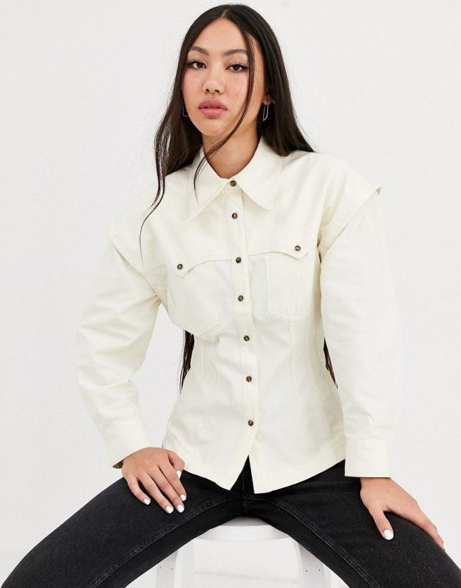 fashionable white shirt